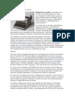Historia de Máquina de Escribir