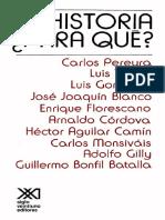 Pereyra, C. Historia Para Que