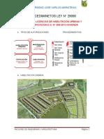 Licencias de edificaciones