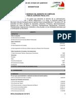 Ley de Ingresos Campeche 2014