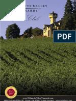 WVV Wine Club Brochure 2010