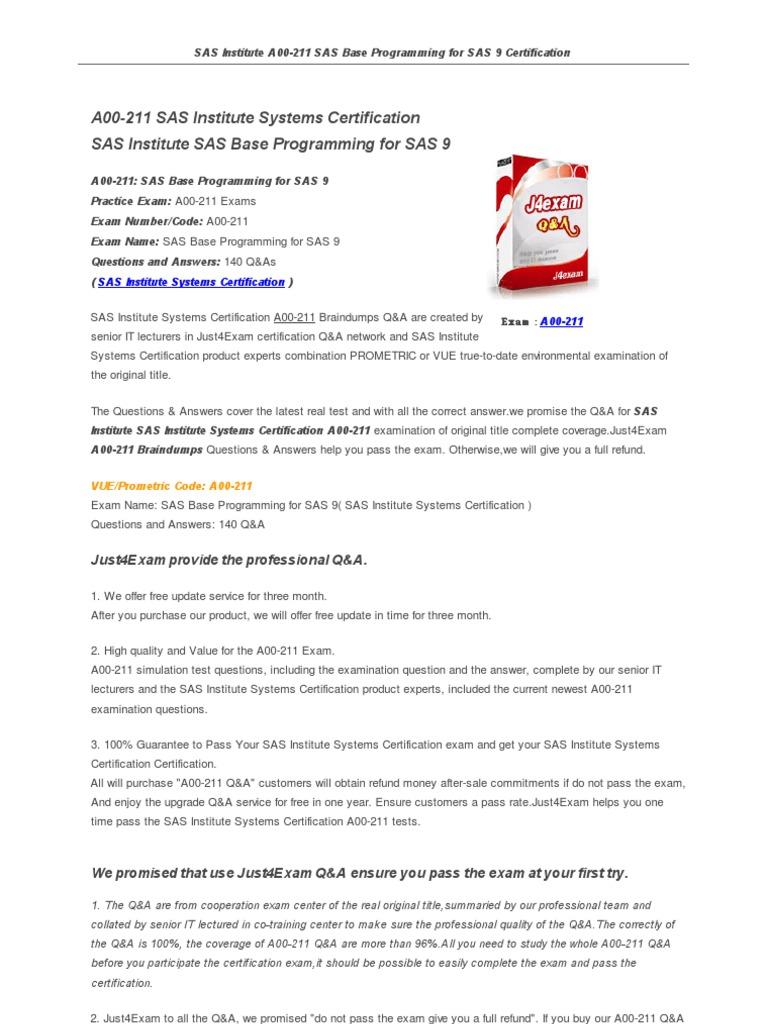 A00 211 sas software certification sas software certification 1betcityfo Images