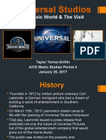 Case Study Universal Studios