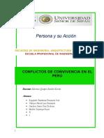 Conflictos de Convivencia en El Perú
