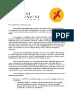 Resignation Letter & Follow Up