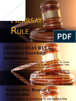 Hearsay Rule