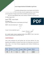 Perhitungan Hujan Rencana Dengan Distribusi Probabilitas Log Pearson Type III