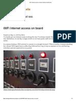 WiFi Internet Access on Board  Sailing Yacht Amalia