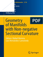 (Lecture Notes in Mathematics 2110) Owen Dearricott, Fernando Galaz-García, Lee Kennard, Catherine Searle, Gregor Weingart, Wolfgang Ziller (Auth.)-Geometry of Manifolds With Non-negative Sectional Cu