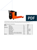 MP20 Walkie Pallet Truck