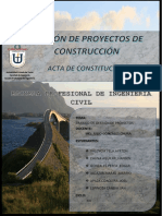Acta de Constitucion Grupo 1 Gestion de Proyectos
