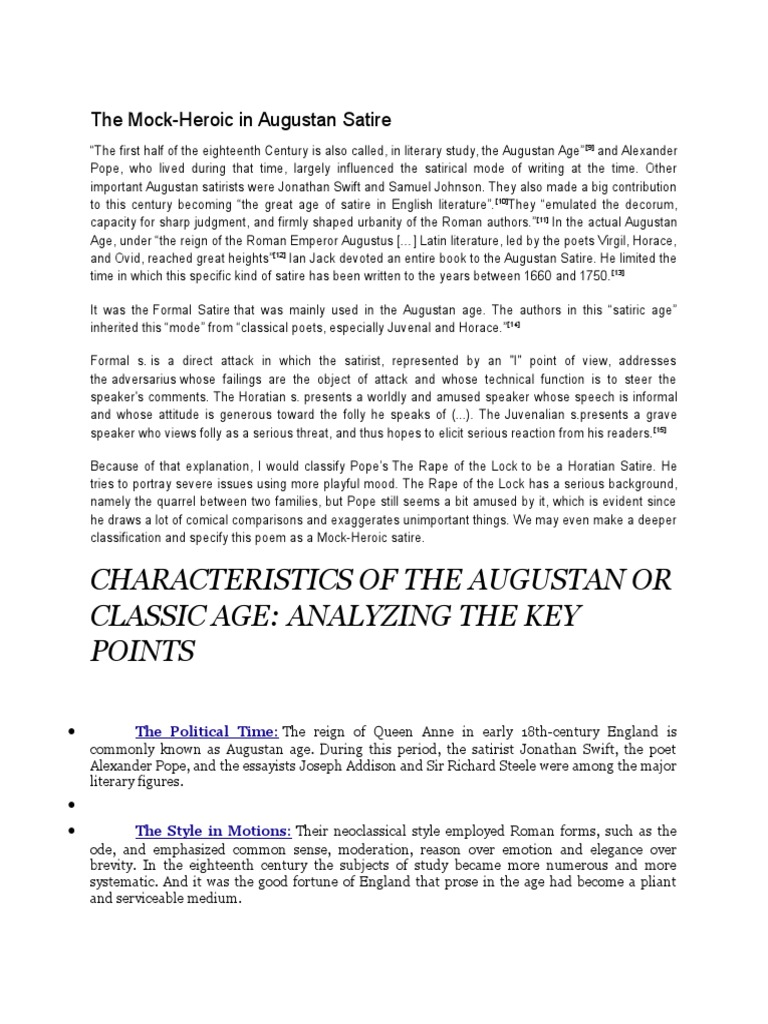 Paper 4 Tb Questions Answers Satire Horace