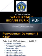Laporan Kegiatan Waka Kurikulum 2015 2016