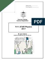 physics unit outline 2017