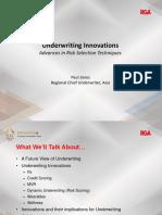 P1 Final Slides - Innovations in Underwriting and Risk Management (Paul Jones)_Demobb