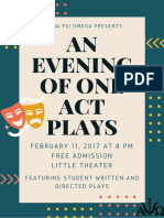 One Acts Poster 2017