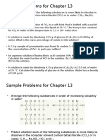 Sample Problems for Chapter 13