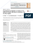 Experimental Investigations on Biodiesel