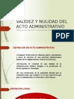 4s Validez y Nulidad Del Acto Administrativo