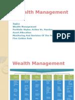 Wealth Management & Portfolio Styles