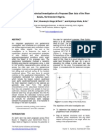 (Abdulmalik, 2014) Geophysical and Geotechnical Investigation of a Proposed Dam Axis of the River Butulu, Northwestern Nigeria