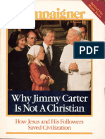 Why Jimmy Carter is not a Christian
