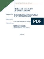 Memoria de Estructuras de Colegio en La Sierra