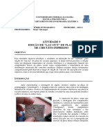 """EDIÇÃO DE """"LAY-OUT"""" DE PLACA DE CIRCUITO IMPRESSO"""