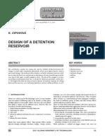 Design of a Reservoir Detention