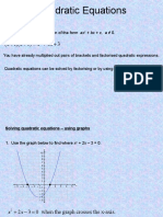 Form 3 44 Quadratic Equations and Graphs1