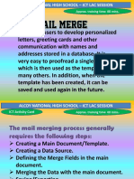Mail Merge Activity Card