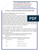trainingk3l.com - Silabus Investigasi Kecelakaan Kerja Sertifikat BNSP