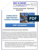 trainingk3l.com - Training Ahli k3 Muda Kontruksi Sertifikasi Depnakertrans