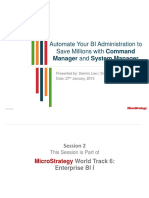 MSTRWorld2015 T6 S2 Command Mgr and System Mgr