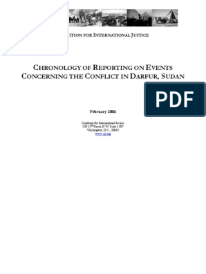 CIJ Complete Darfur Chronology   Sudan   Darfur