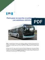 París Pone en Marcha Su Primera Línea Con Autobuses Eléctricos