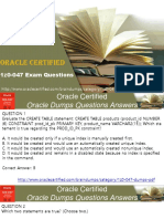 Free Oracle Exam Question With Answers