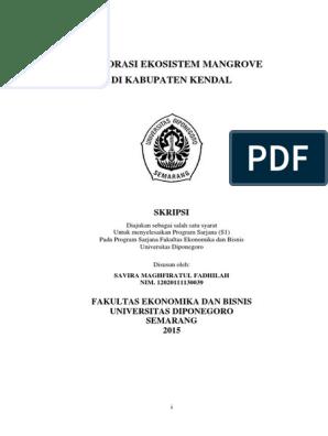 Restorasi Ekosistem Mangrove Pdf