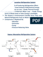 Vapour Absorption Refrigeration System PPT