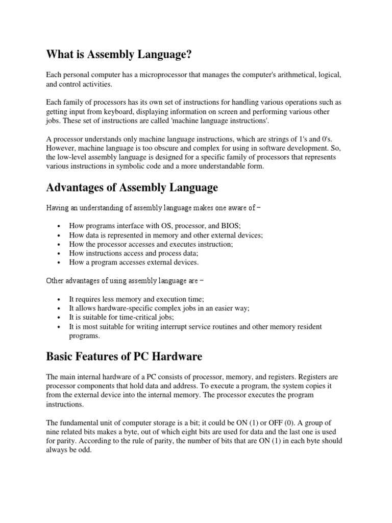 What is Assembly Language | Assembly Language | Central Processing Unit