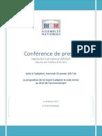 Conférence de Presse Code Minier