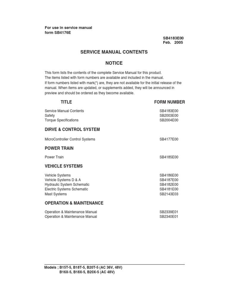 doosan b15 20t 5 ac electric motor electric current rh es scribd com Clip Art Operations Manual Operations Manual Template for Word