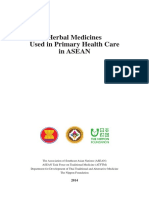 Herbal Medicines Used in PHC in ASEAN-For ASEC
