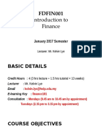 00 - FDFIN001 - Course Introduction Slides - January 2017 Updated