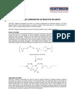 Jeffsol Alkylene Carbonates as Reactive Diluents