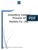 Determination of Inventory Control Policies at Hentex Co Ltd