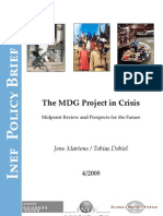 The MDG (MIllennium Development Goals) Project in Crisis Midpoint Review and Prospects for the Future