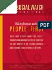 Social Watch Report 2009 - Making Finances Work
