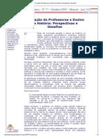 Formação de Professores e Ensino de História_ Perspectivas e Desafios