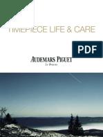 Audemars Piguet timepiece life & care